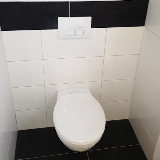 platzsparenden Toilettenniesche
